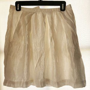 H&M Shimmery white skirt with pockets
